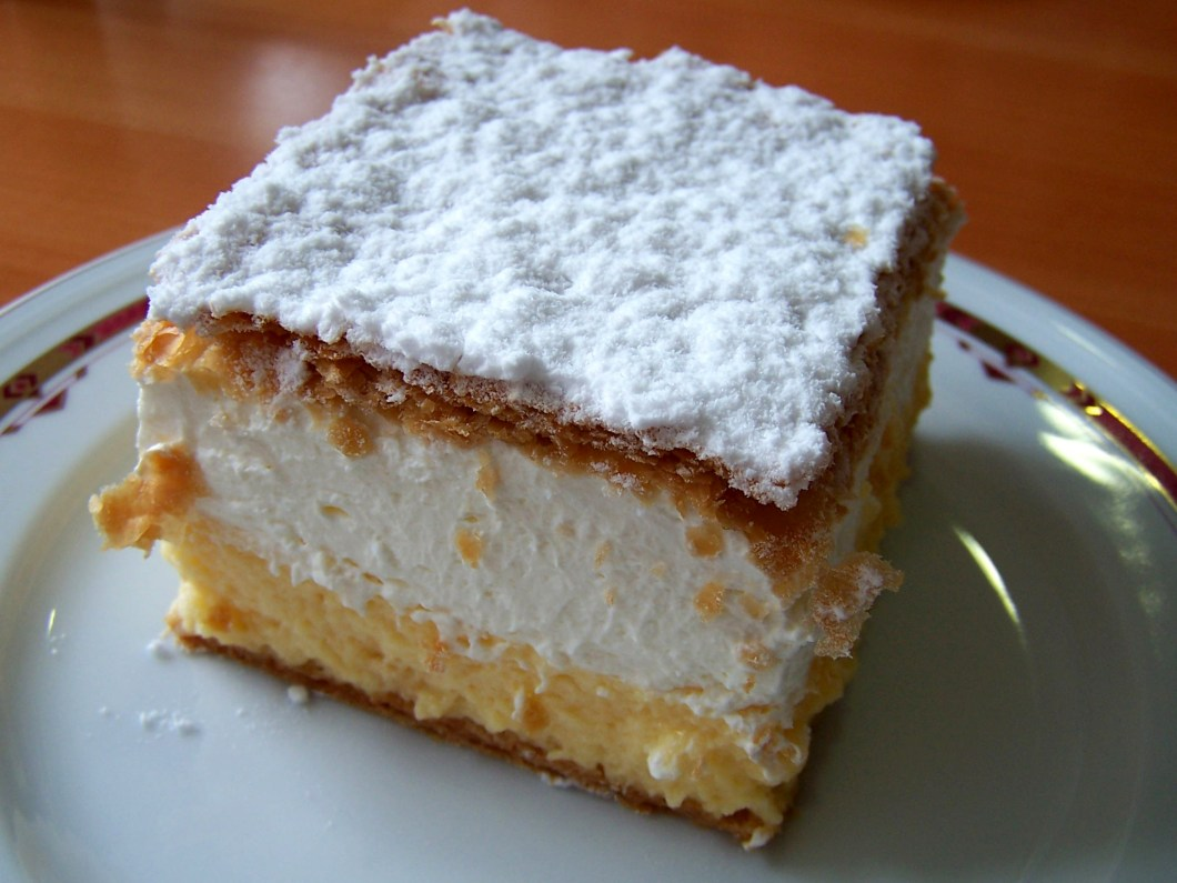 Cremeschnitte – Croatian invention.
