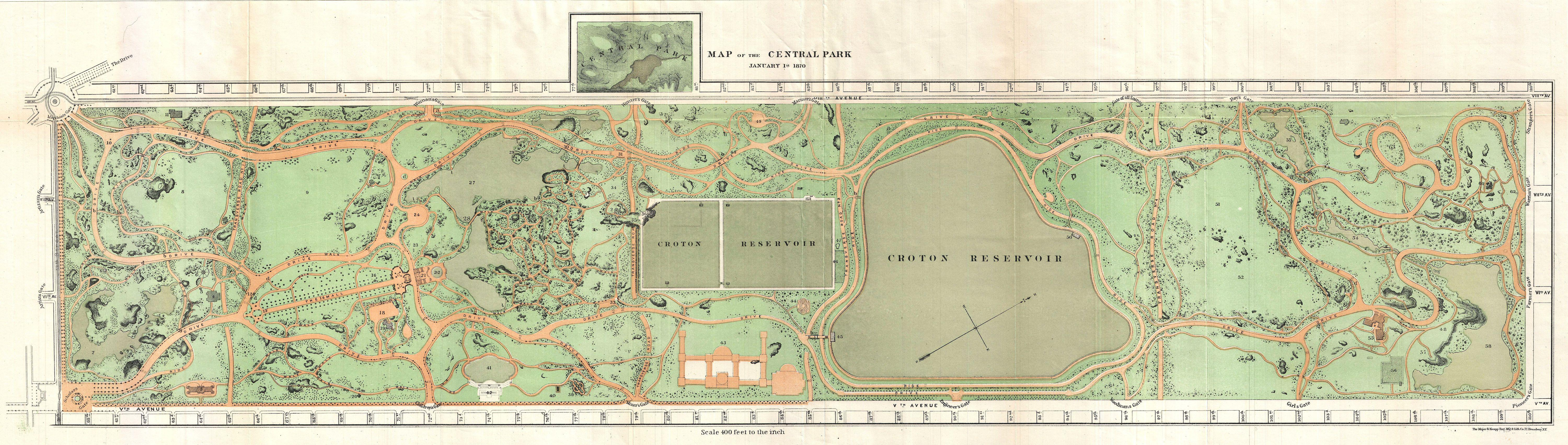 central park maps | New York City Historical Blog on