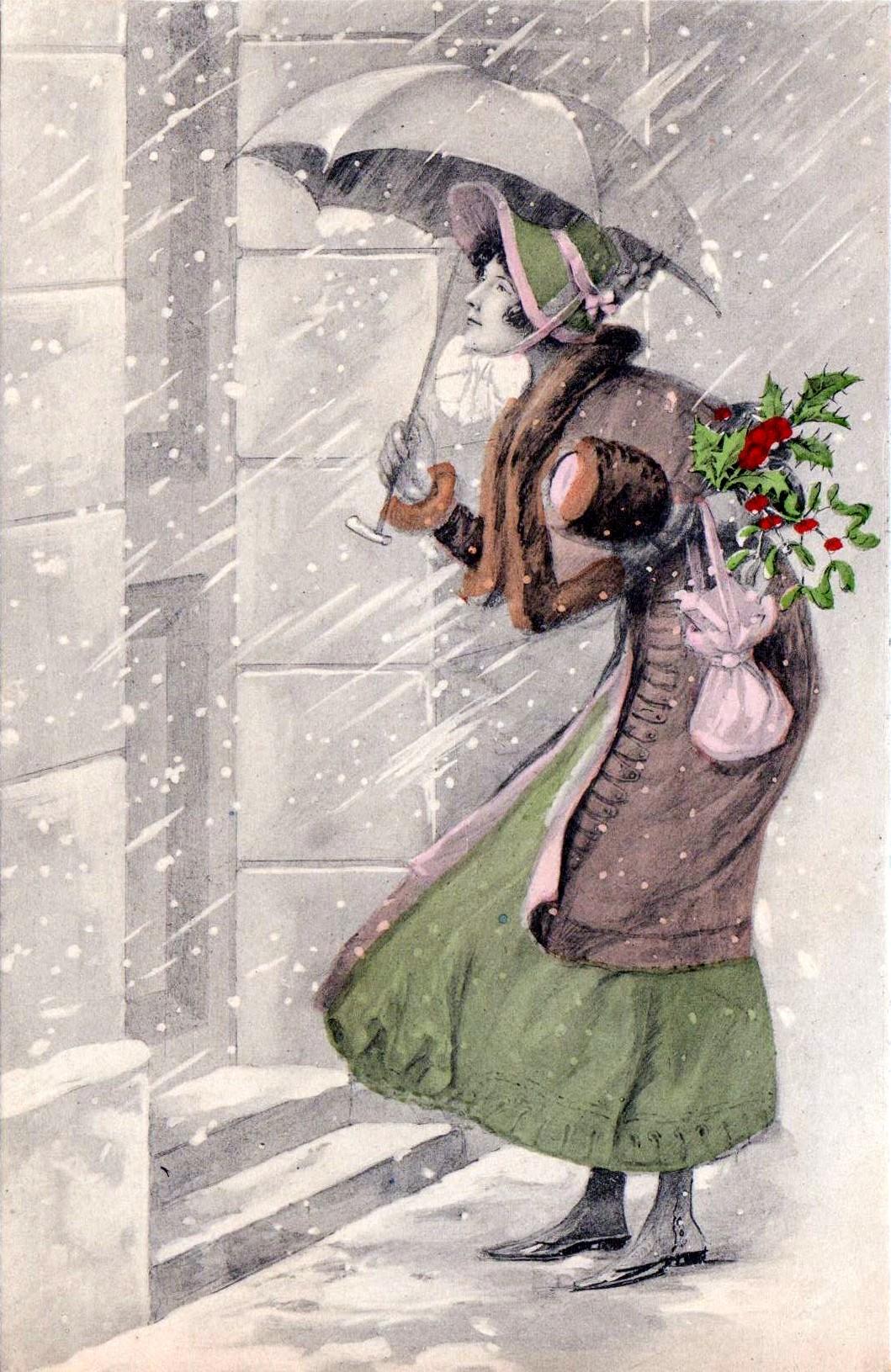 FileThe Christmas Visit Postcard C 1910jpg Wikipedia