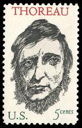 1967 U.S. postage stamp honoring Henry David T...