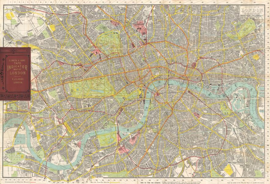 File 1910 Smith s Tape Indicator Map of London   Pocket Map     File 1910 Smith s Tape Indicator Map of London   Pocket Map      Geographicus