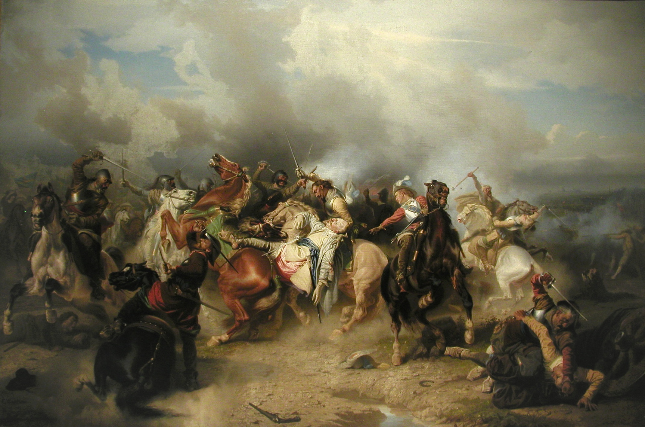 De dood van Gustav II Adolf