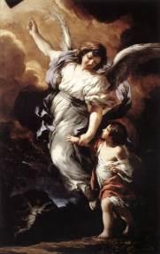 Pietro da Cortona (Pietro Berrettini) (Cortona 1597 - Roma 1669) Angelo custode