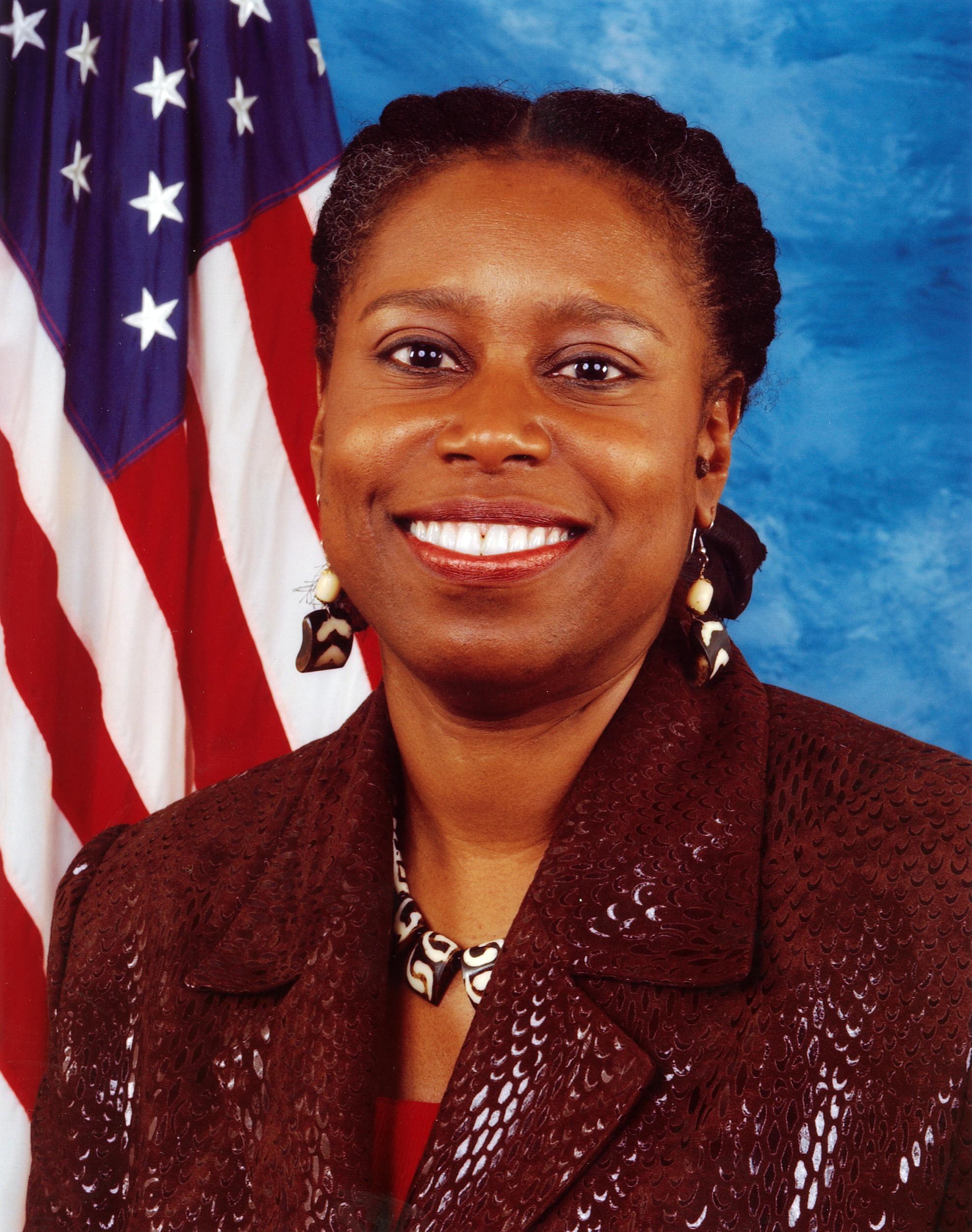 Cynthia McKinney's Congressional photo.
