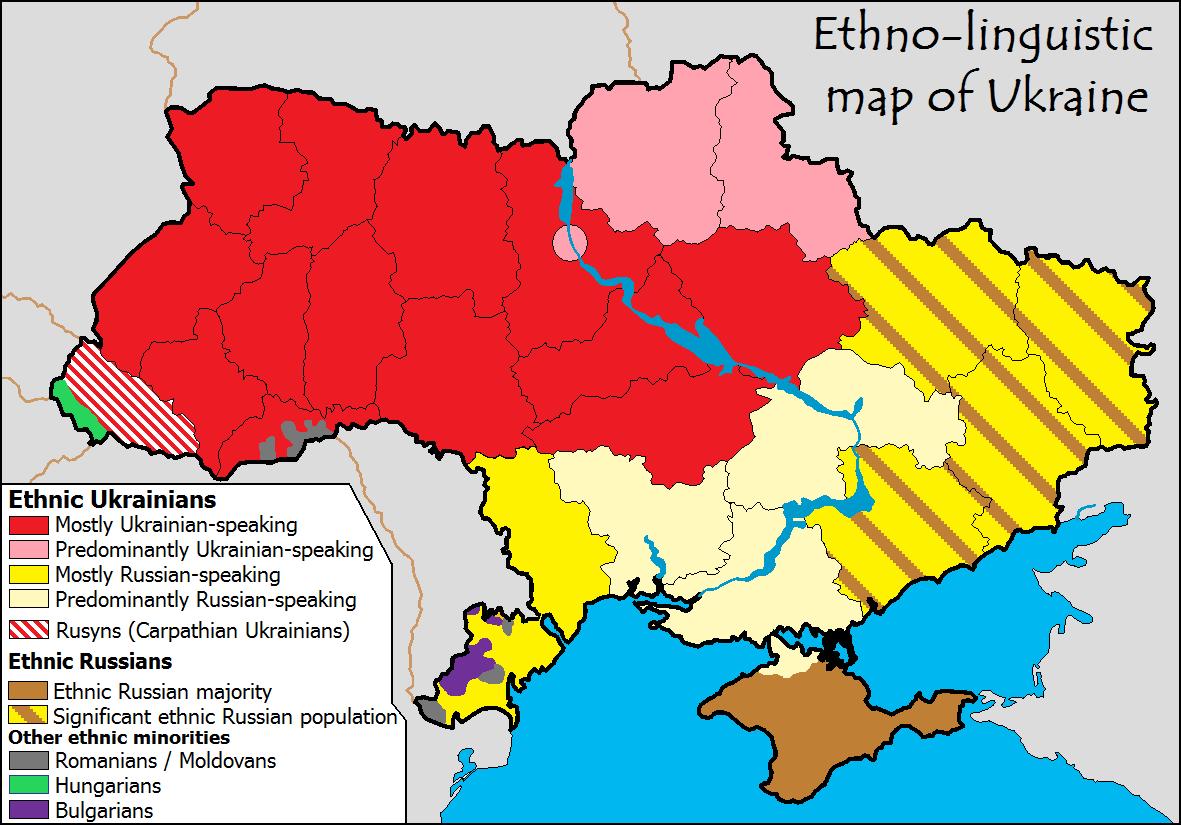 Ukraine Sprachen und Ethnien