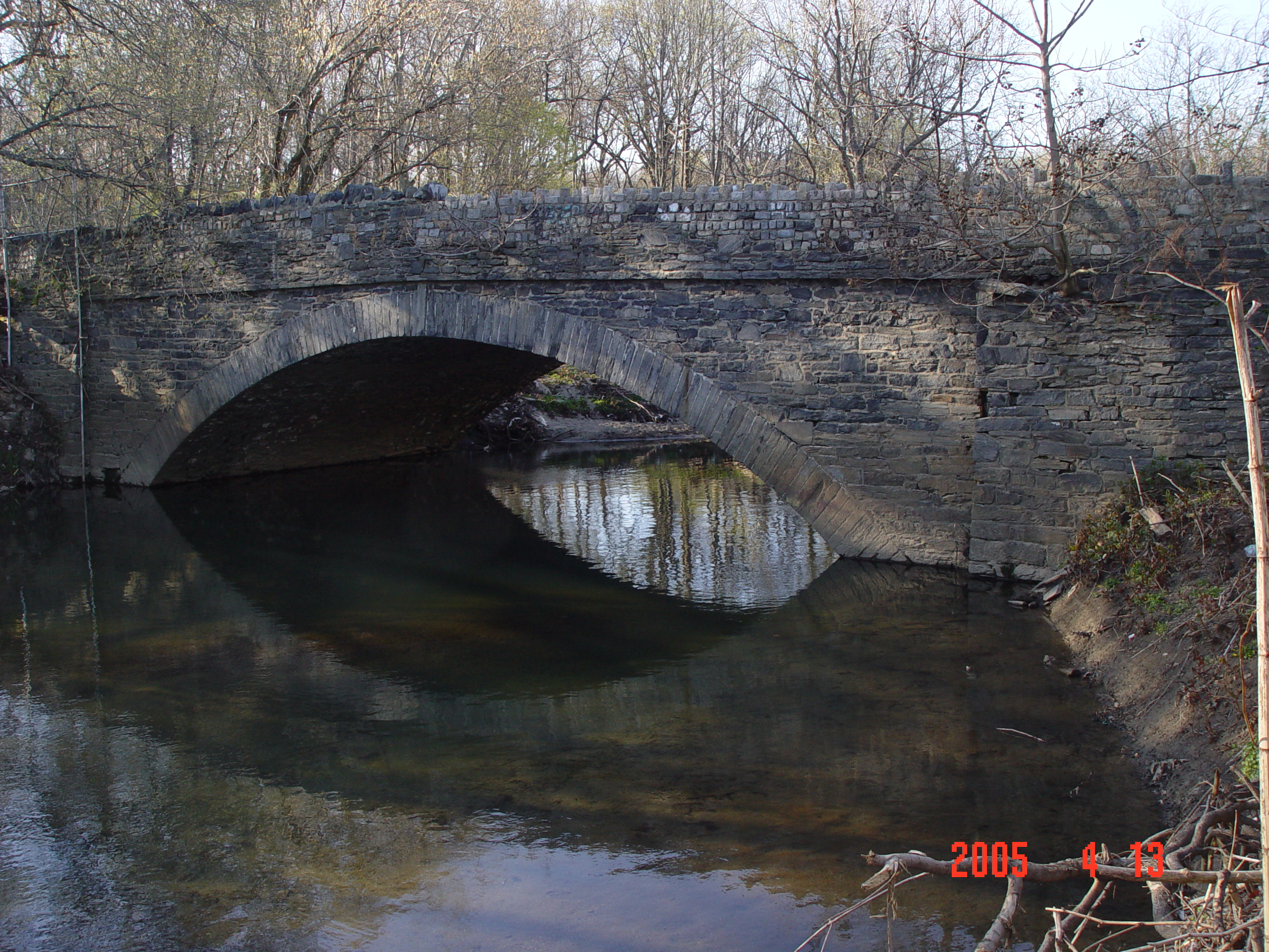 Fisher's Lane Stone Arch Bridge over Tacony Creek