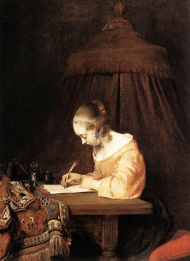 Gerard ter Borch's Die Briefschreiberin