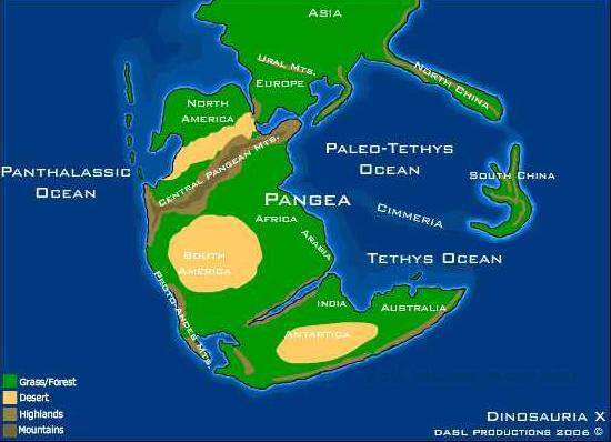 Pangaea physical map