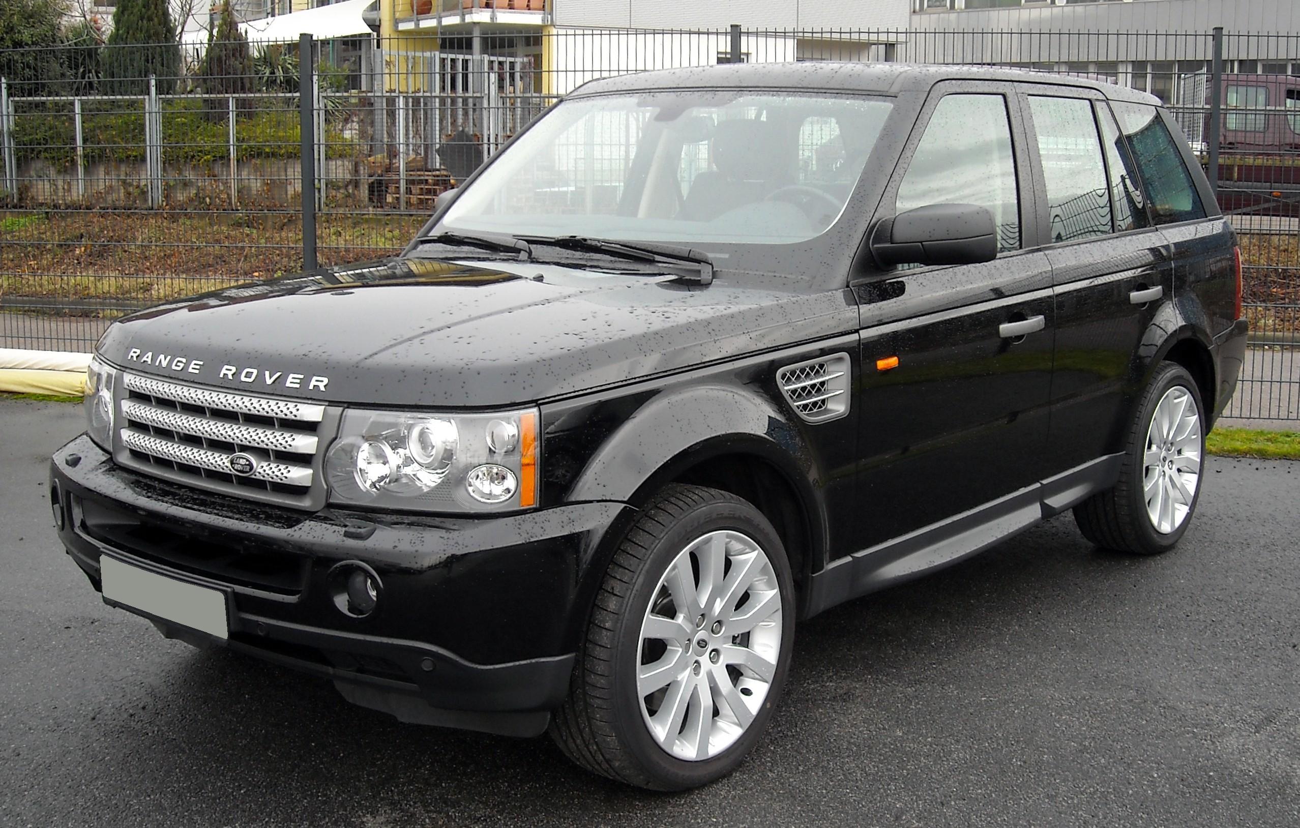 File Range Rover Sport front Wikimedia mons