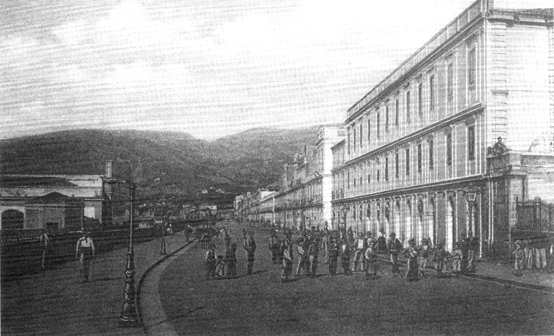 Reggio Calabria cartolina antica via marina
