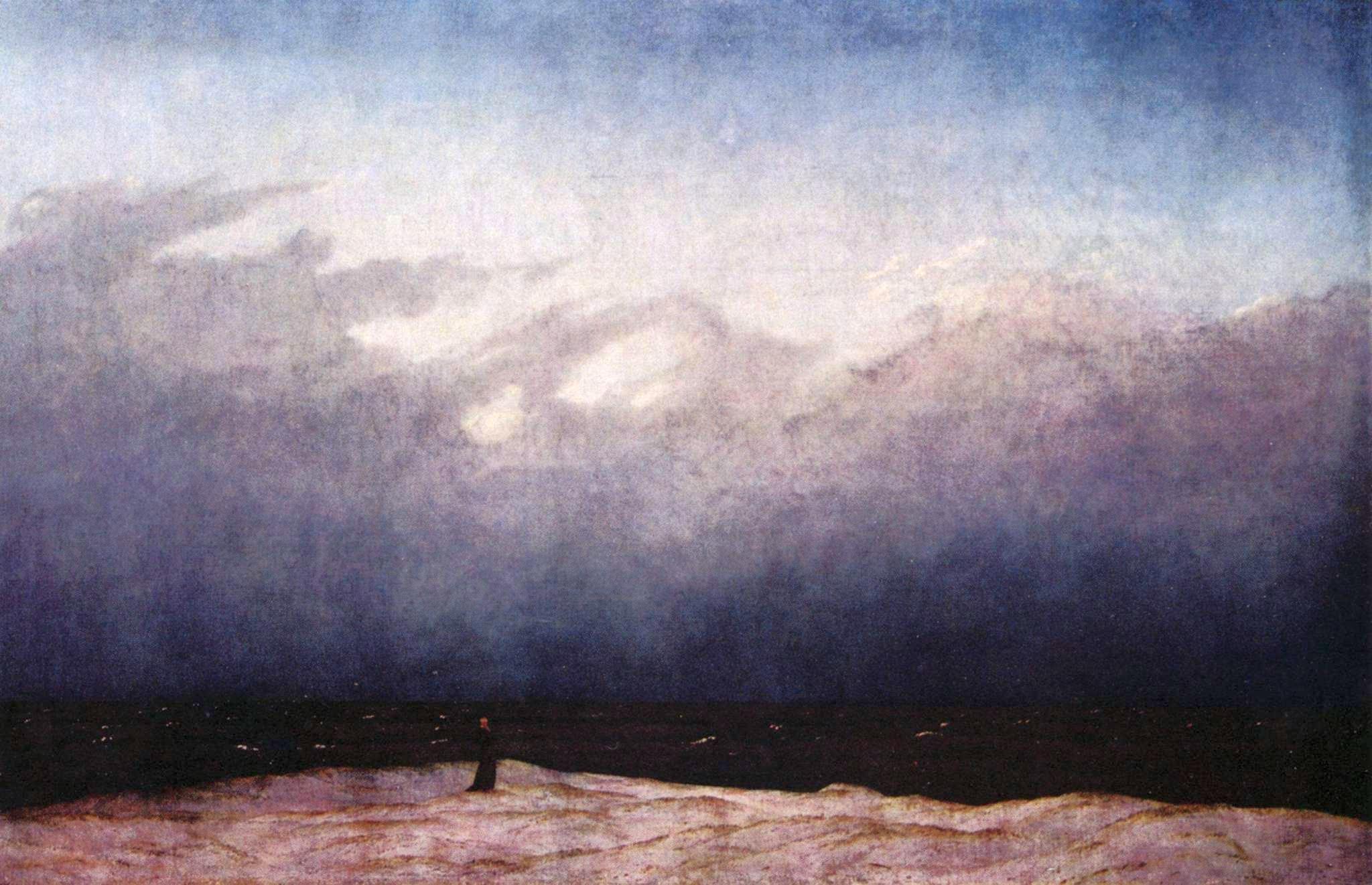 Caspar Friedrich - Monaco sulla spiaggia