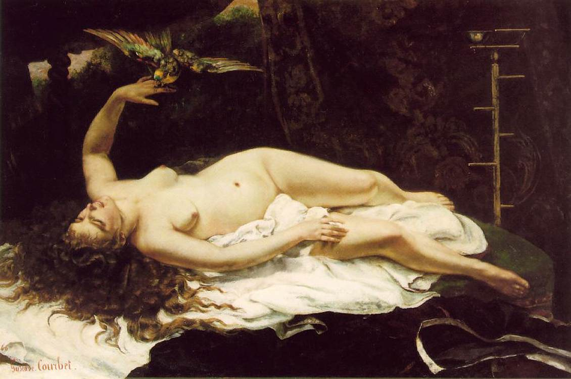 Gustave Courbet - Woman with a Parrot - WGA5504