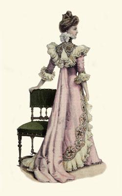 Istorija odevnih predmeta - Page 7 Tea_gown_1899