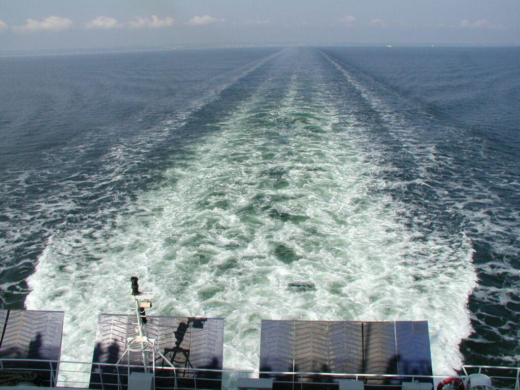 Kölvatten i baltiska havet