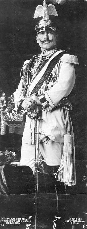 Wilhelm II. on picture postcard, 1905