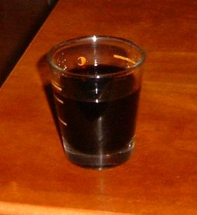 Picture of a shot of balsamic vinegar
