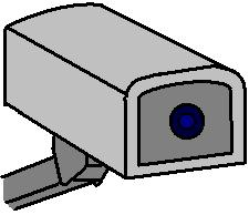 Drawing of a CCTV Camera (MS Paint)