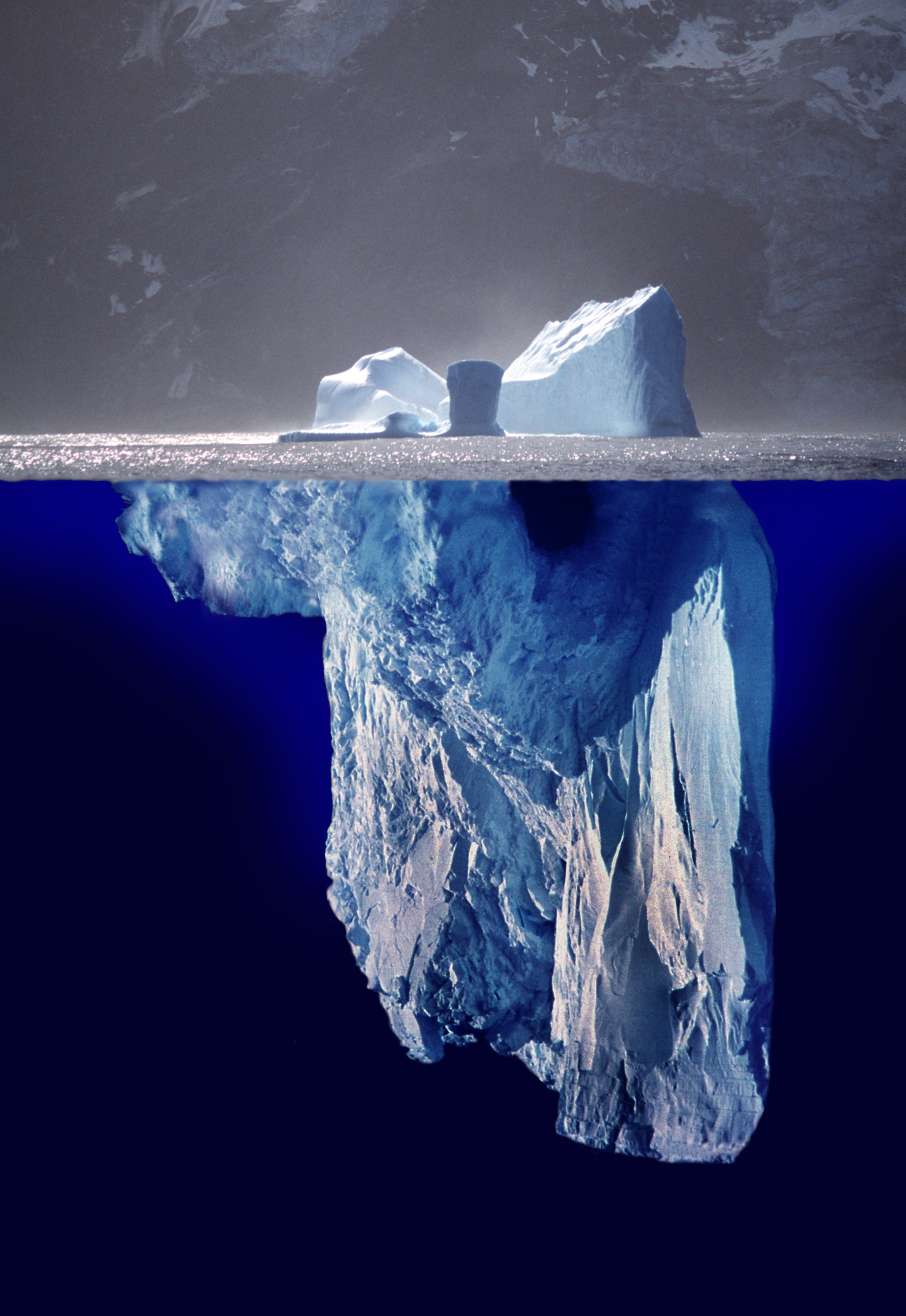 A photomontage of what a whole iceberg might l...