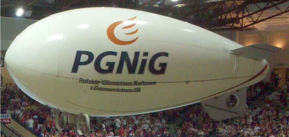Polski: Sterowiec reklamowy PGNiG