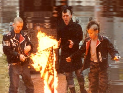 File:Punks burning a flag.jpg
