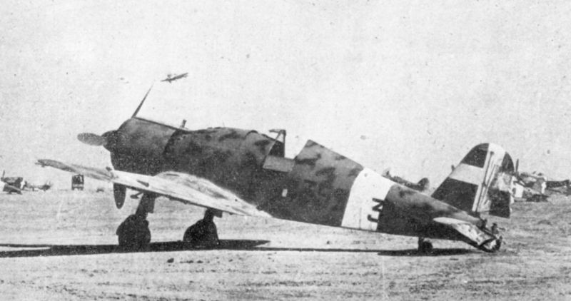 Fiat G.50 Freccia captured by Commonwealth forces in North Africa