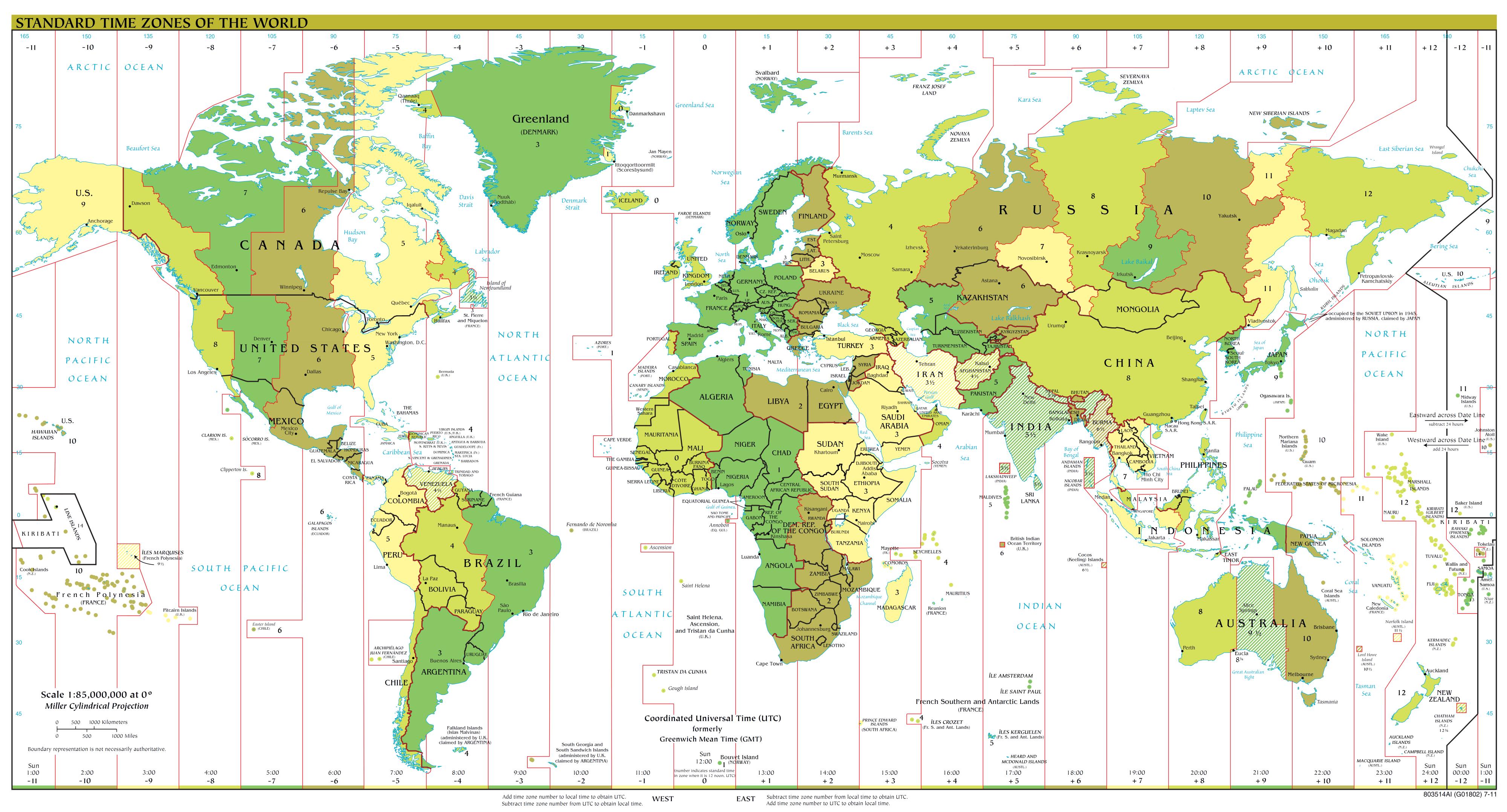 Global Time Zones - via Wikipedia