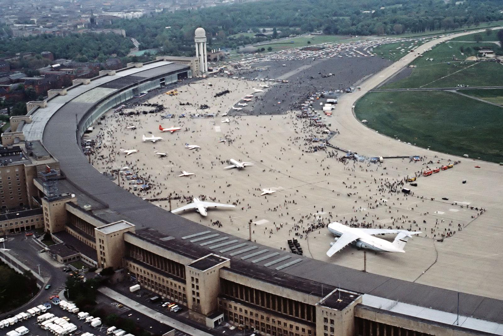 Tempelhof Airport, acres of concrete and tarmac