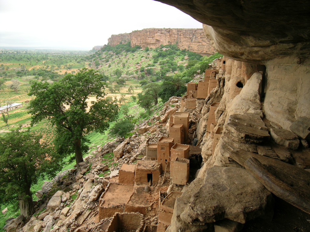 English: Cliff of Bandiagara, Dogon, Mali Fran...