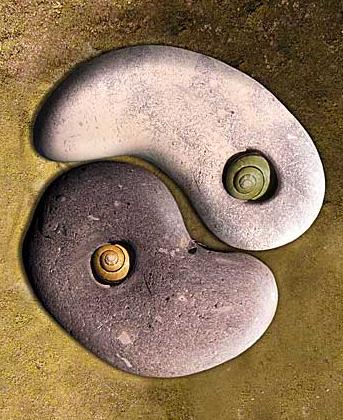 Yin and yang stones