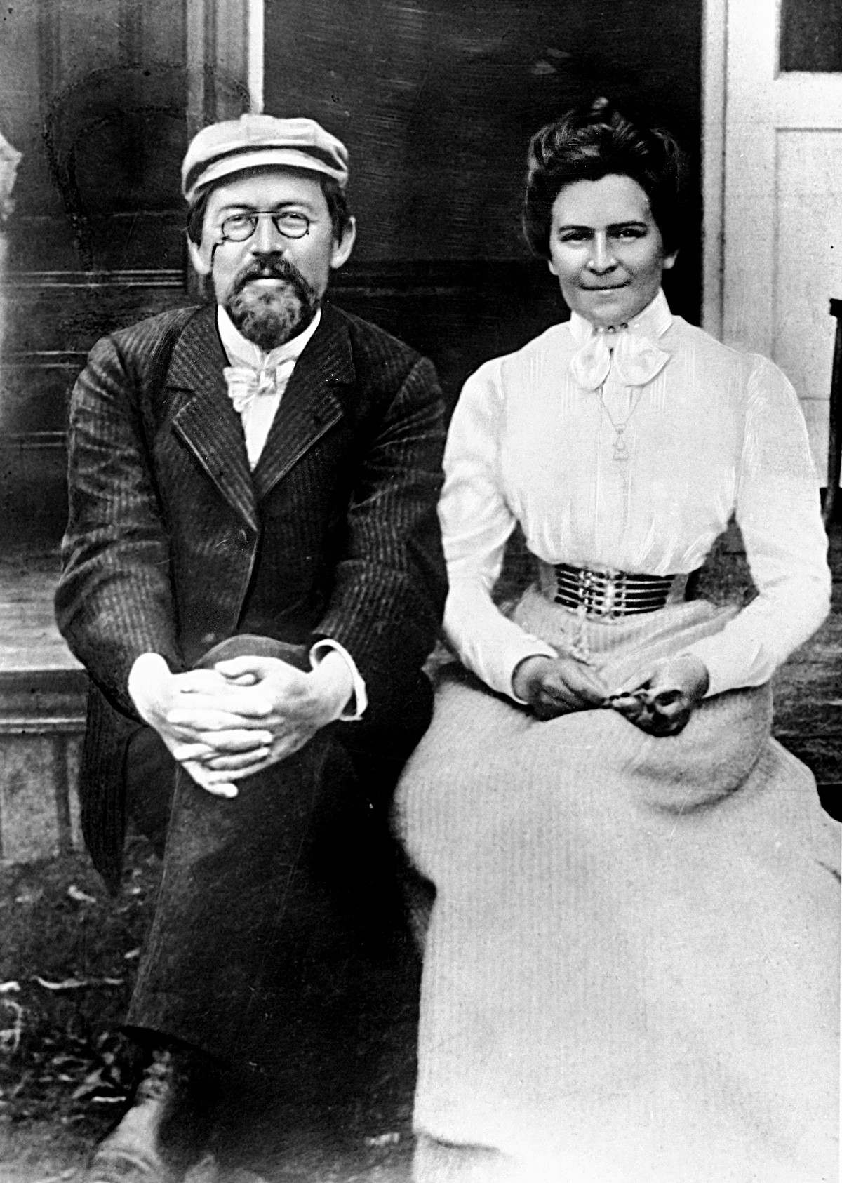 Anton Chekhov and Olga Knipper, 1901