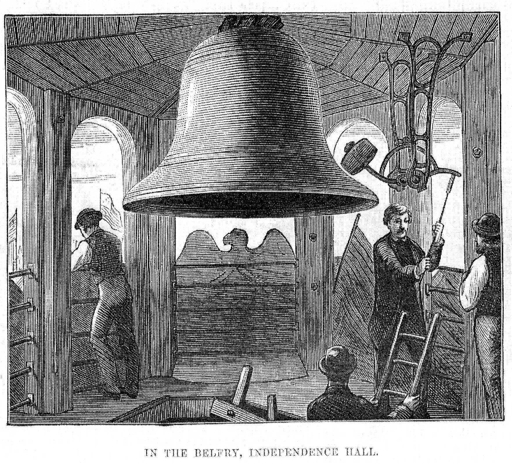 File Centennial Bell In The Independence Hall Belfry Philadelphia