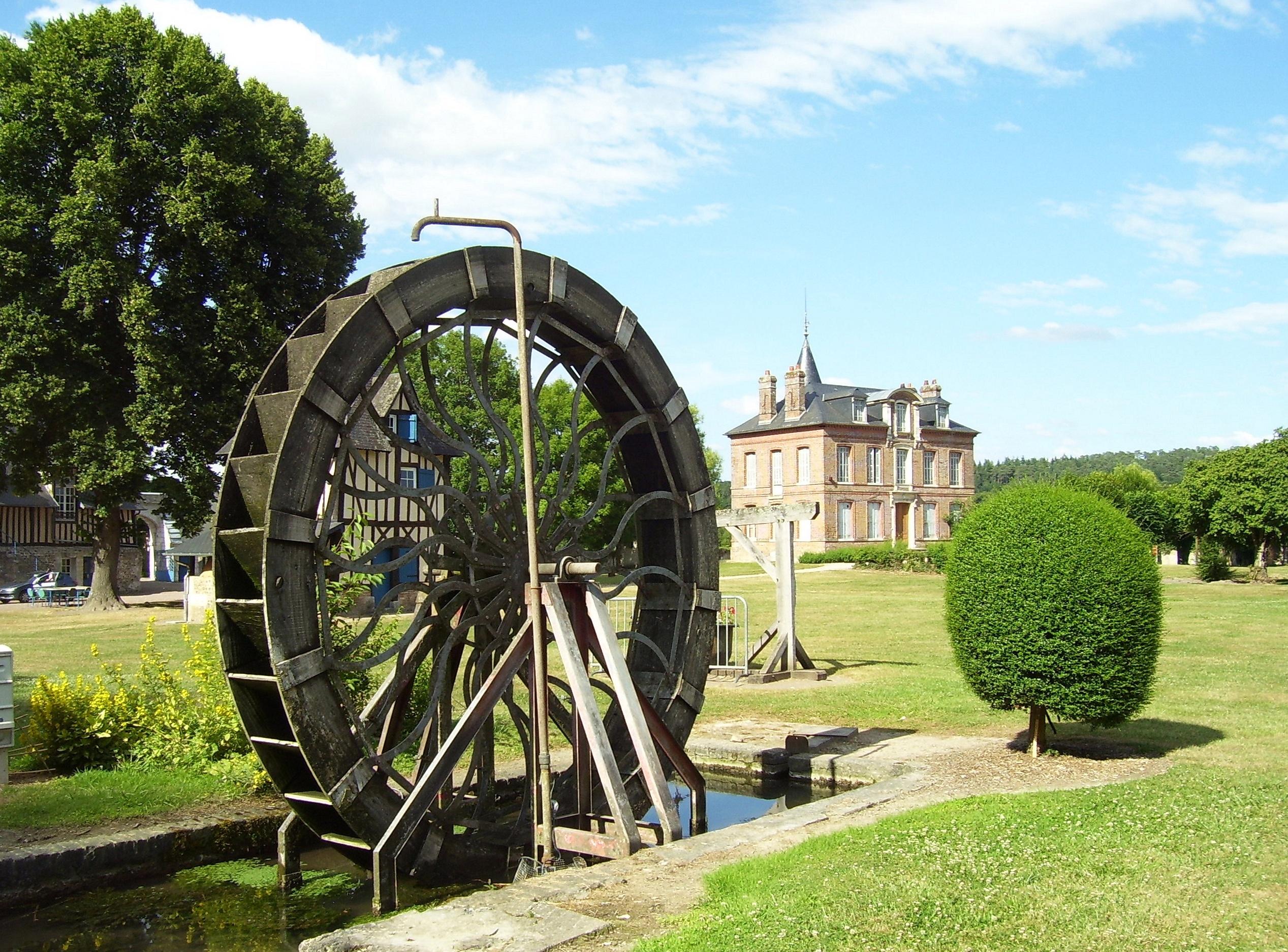 mill wheel, saint-philbert-sur-risle