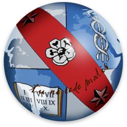 English: Globe logo for Mises Wiki