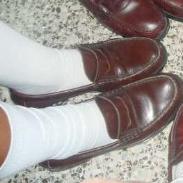 English: School socks.