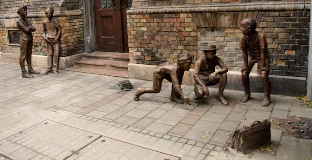Image result for statue boys street paul