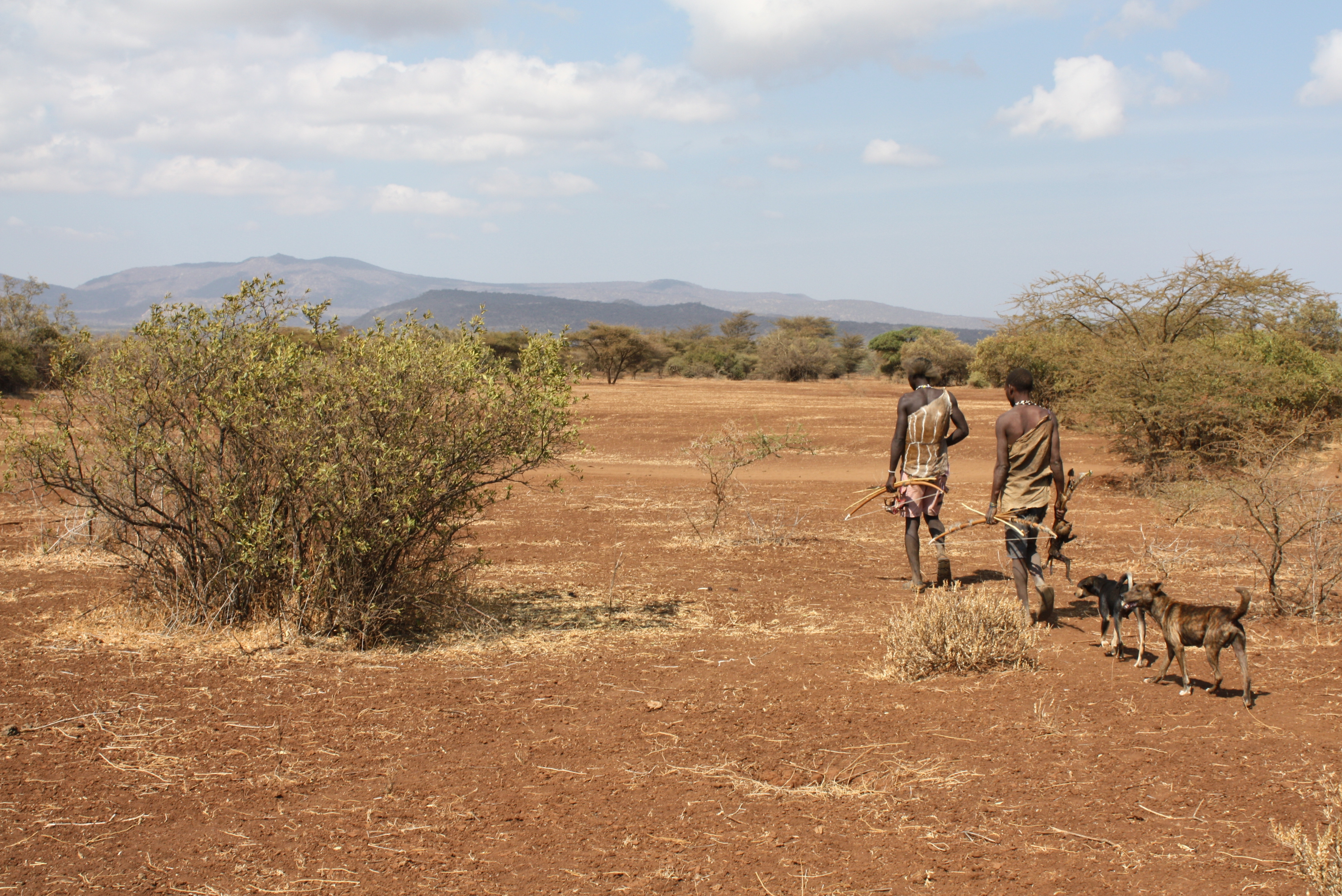Hadza hunter-gatherers in Africa