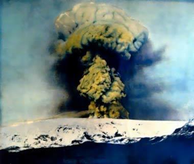 Explosive eruption at Katla in 1918