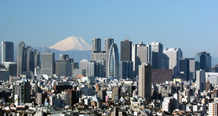 現在の東京からの富士山