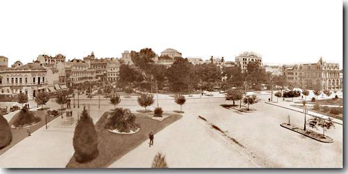 Panorâmica da Praça da Alfândega em 1929.