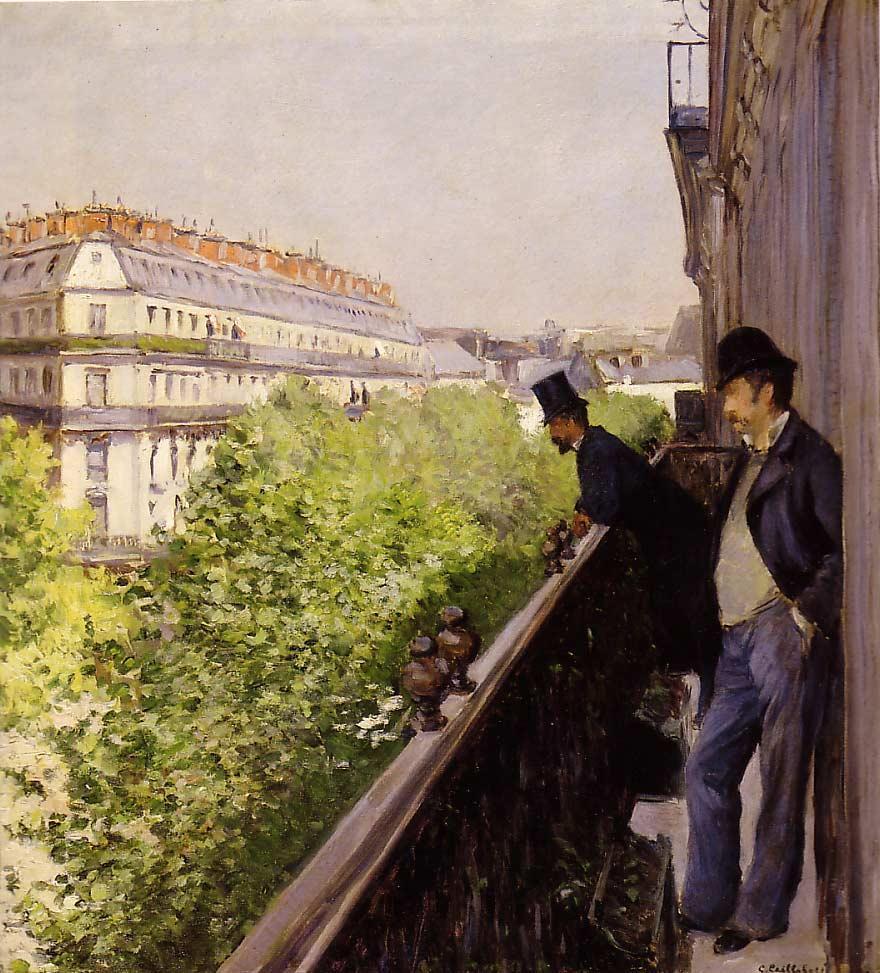 G. Caillebotte - Un balcon (1880)