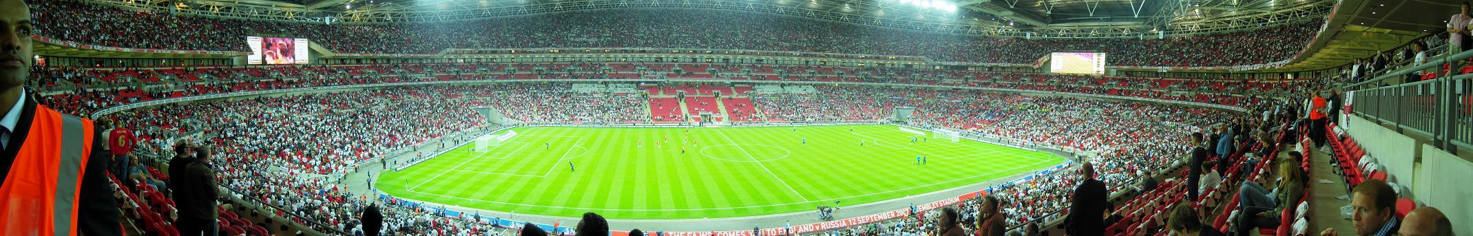 Панорама внутри стадиона Уэмбли