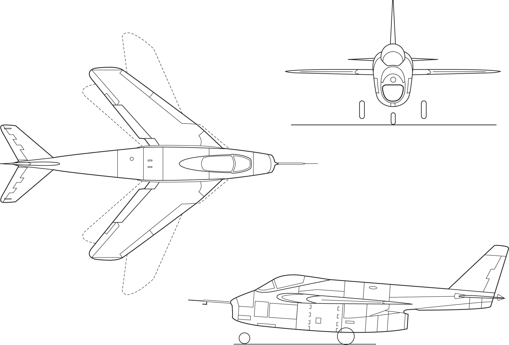 Bell X 5 Af 50 Variable Sweep Wing Research Aircraft