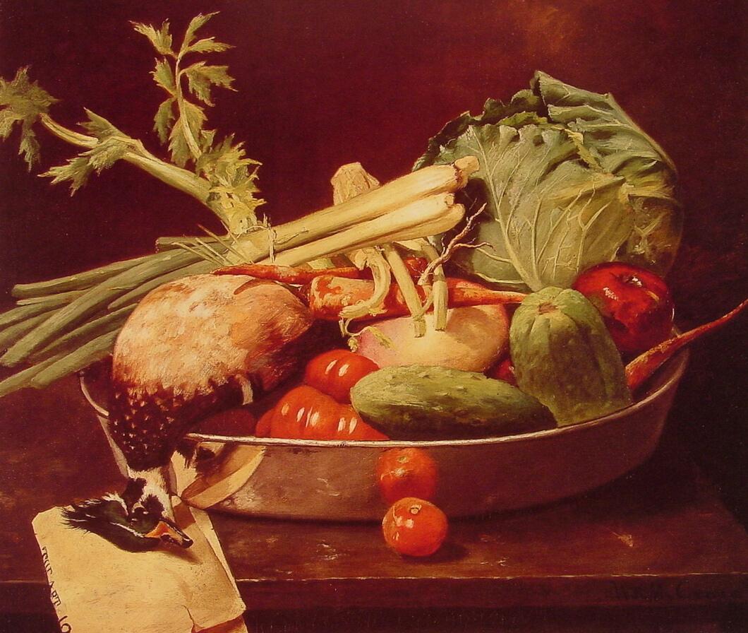 Chase William Merritt Still Life with Vegetable