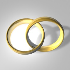 Wed rings symbol/icon (for user stickers etc.)...