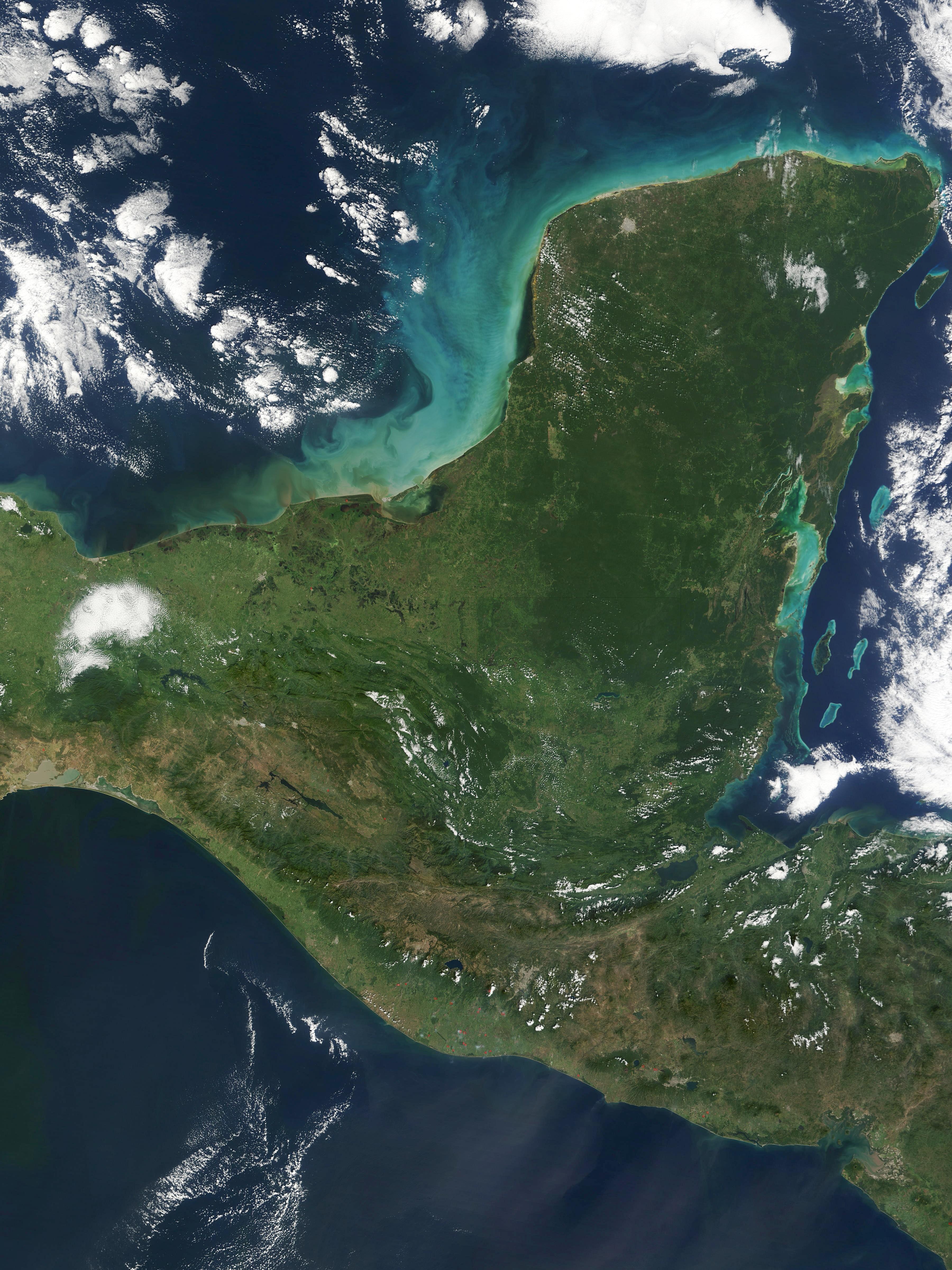 Yucatan Peninsula as seen from Space - Wikipedia