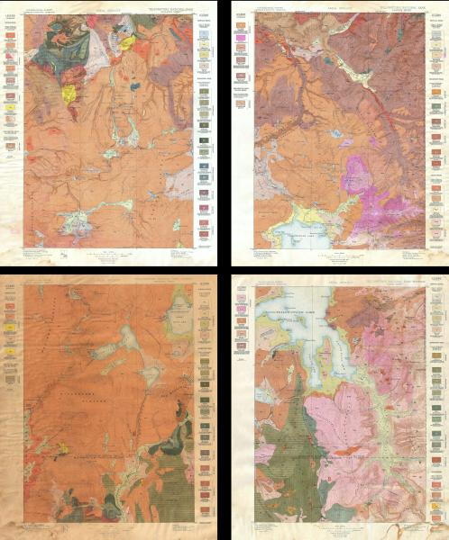 File 1896 U S  Geological Survey Geological Map of Yellowstone     File 1896 U S  Geological Survey Geological Map of Yellowstone National  Park  4 sheets