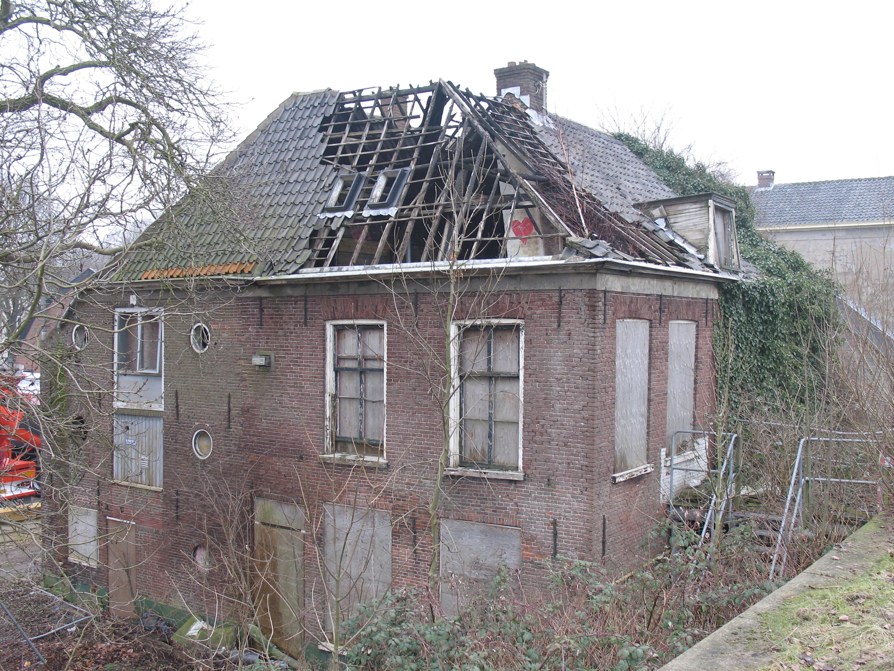 Verkrot pand Wageningen