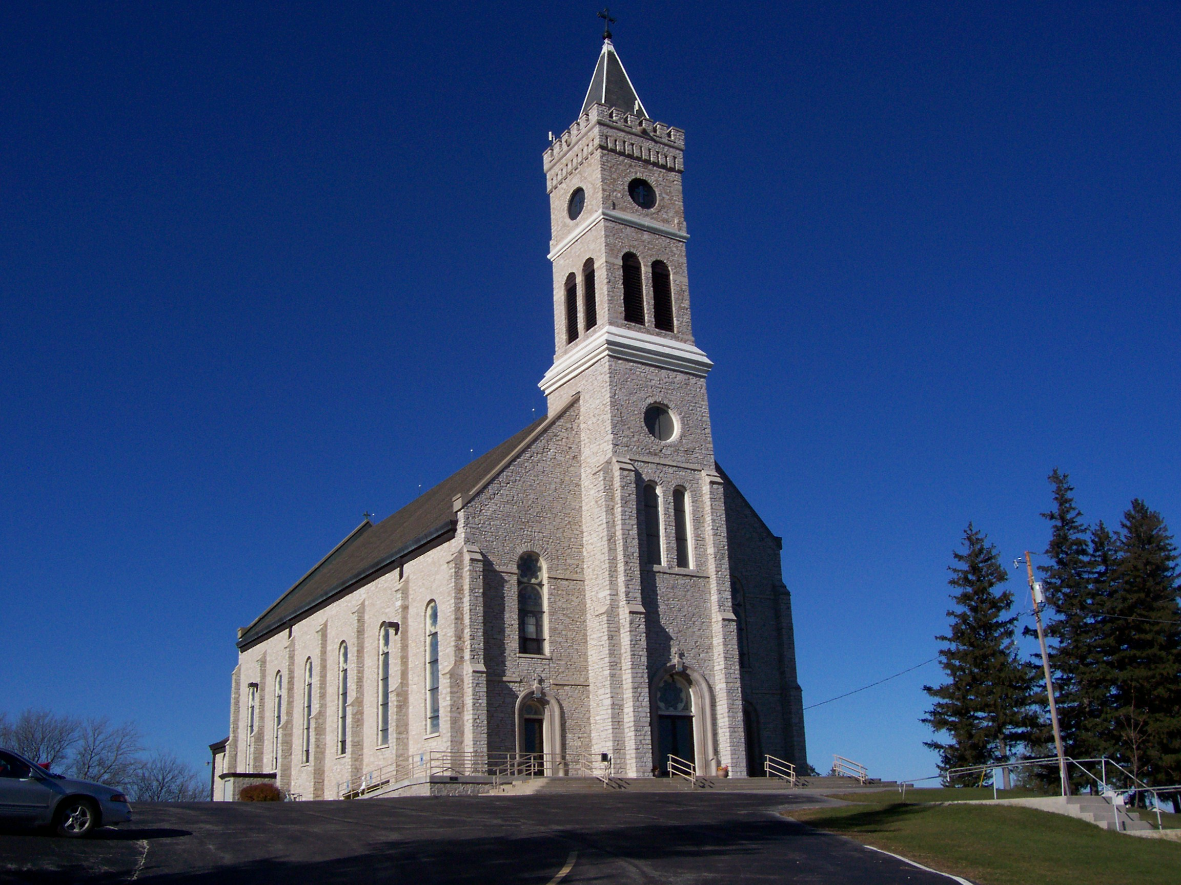 St. Marys Church in Marytown Wisconsin.  My mother and her siblings grew up down the hill. (Photo source: Wikipedia)