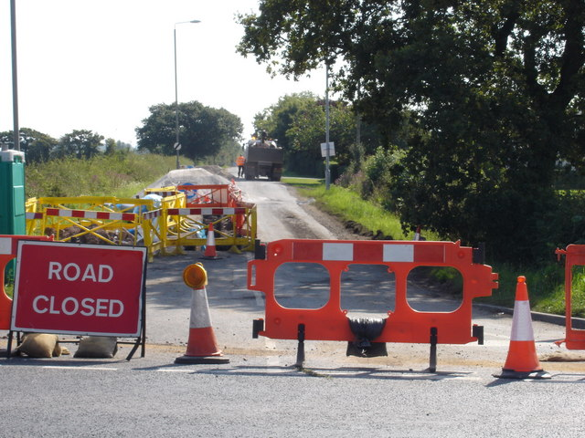 English: Roadworks