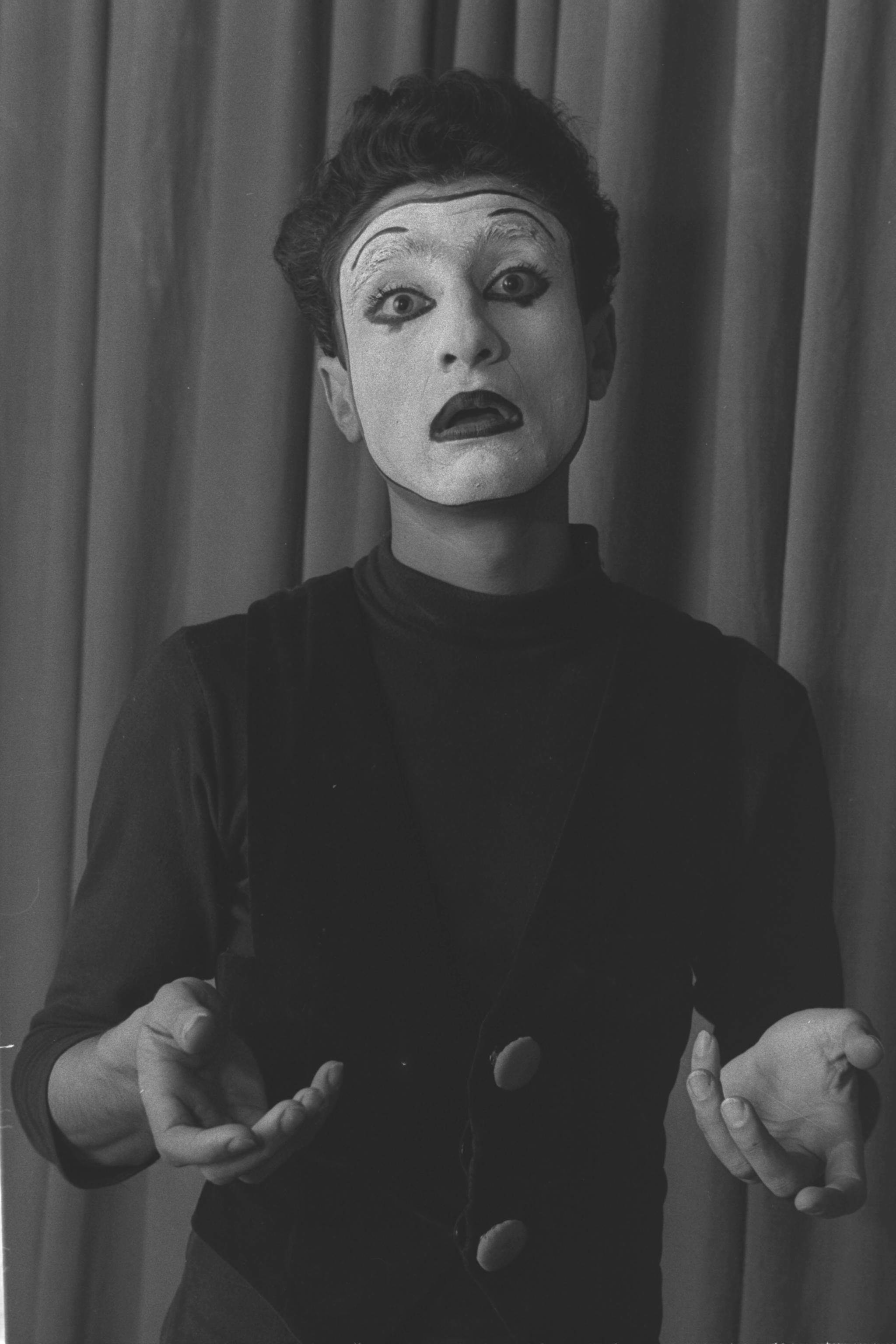 Samy Molcho a young Israeli mime artist